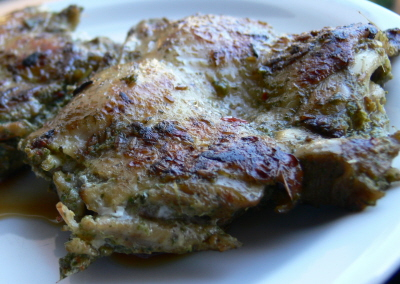 Mint, Cumin and Chilli Padi Grilled Chicken Thigh