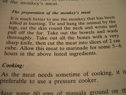 Monkey Curry Recipe