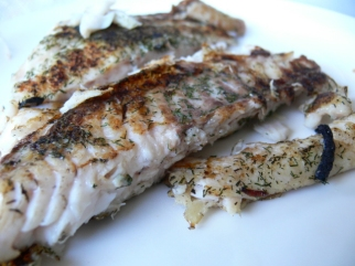 Pan Fried Snapper with Dill Weed