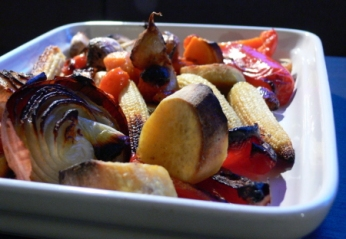 Wasabi Roasted Vegetables