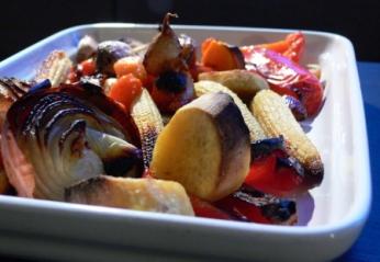 Wasabi Roasted Vegetables