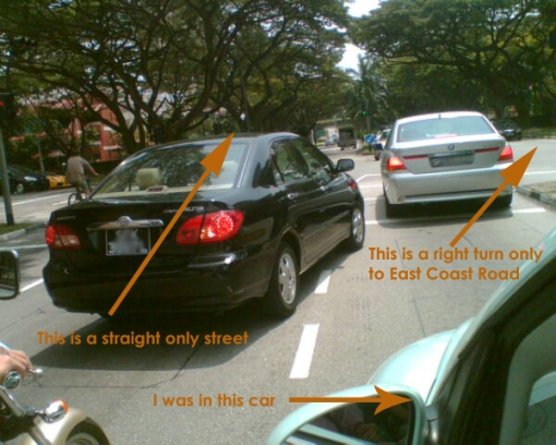 Bad Drivers Bedok South East Coast Road