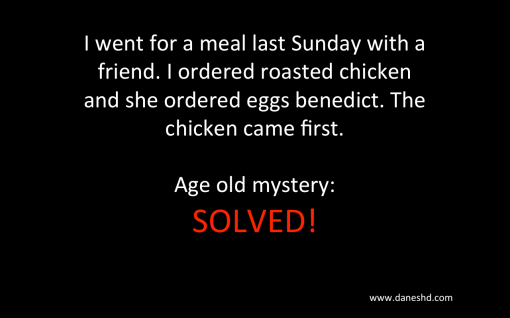 Age Old Mystery Solved: The chicken came before the egg